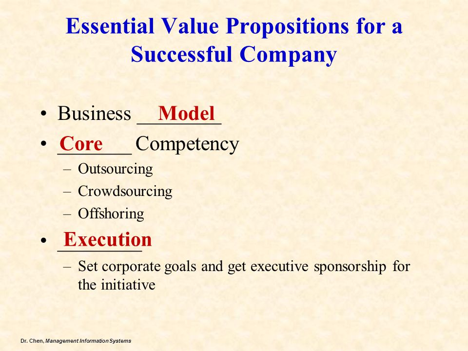 Essential Value Propositions for a Successful Company