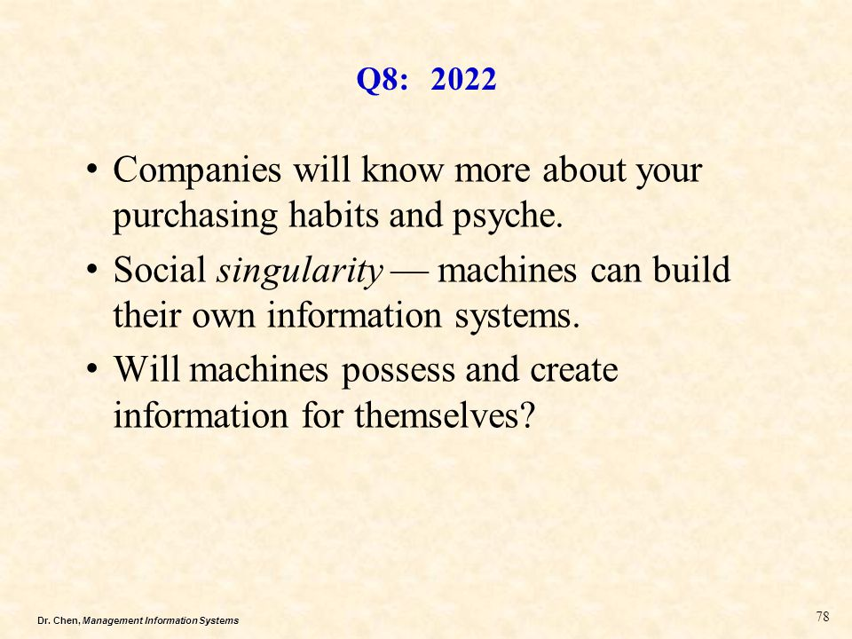 Companies will know more about your purchasing habits and psyche.