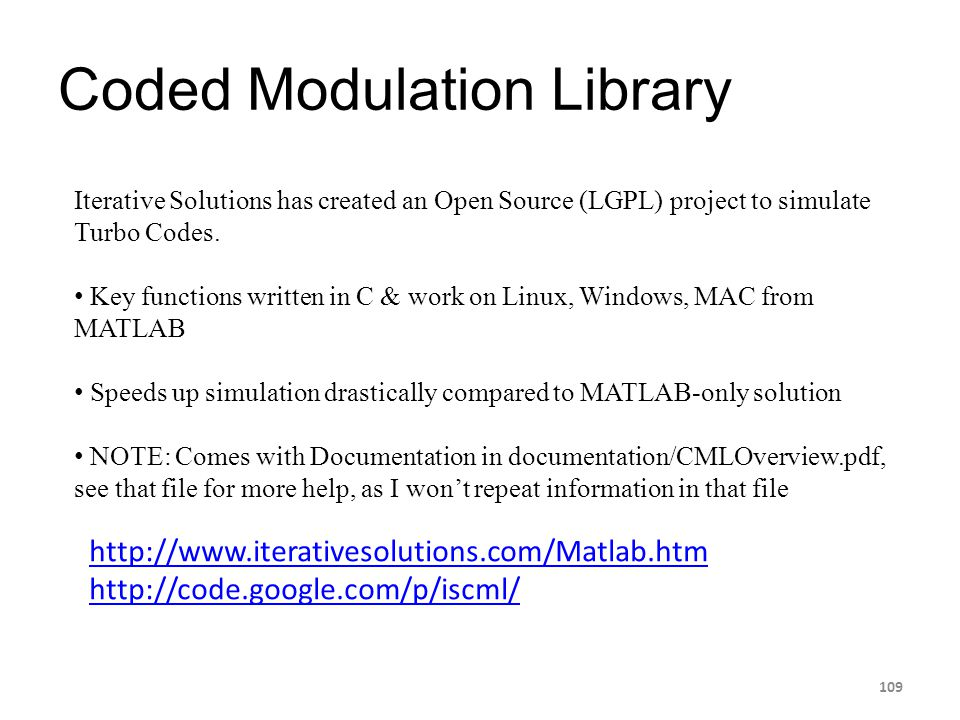 Coded Modulation Library