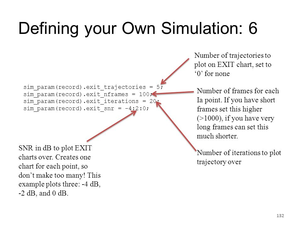 Defining your Own Simulation: 6
