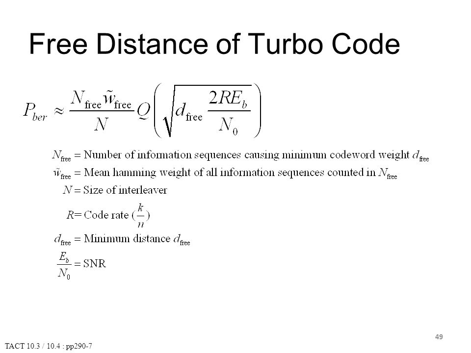 Free Distance of Turbo Code