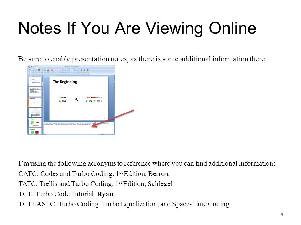 Notes If You Are Viewing Online