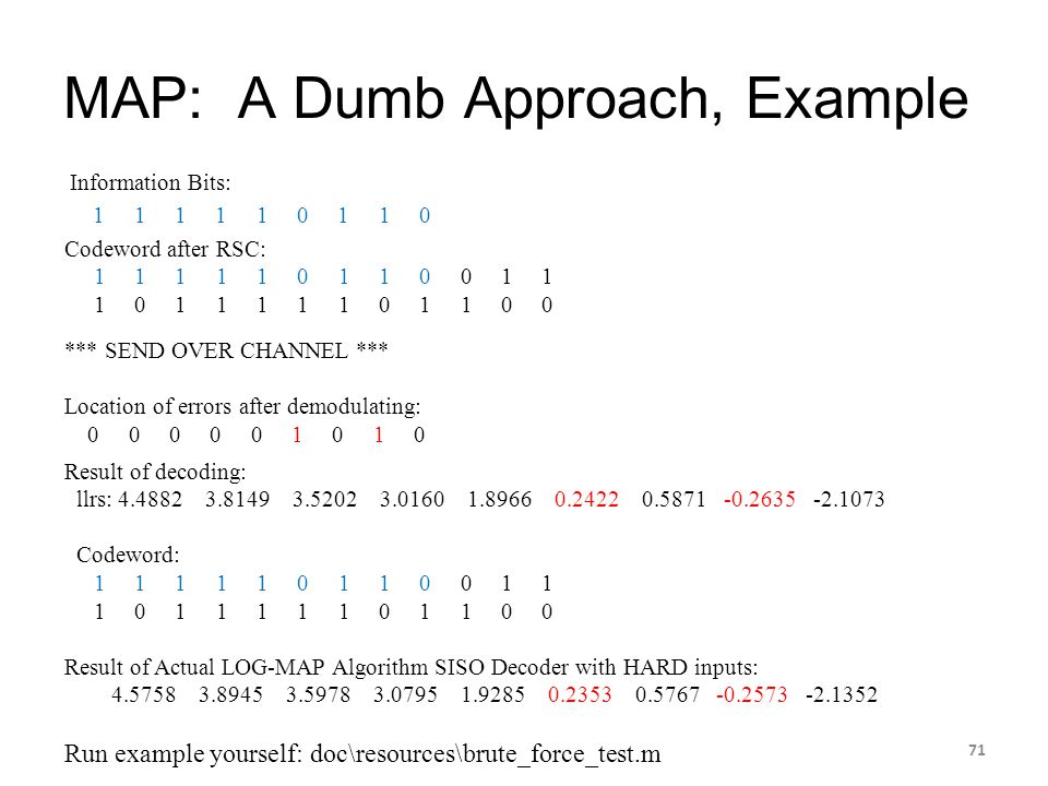 MAP: A Dumb Approach, Example