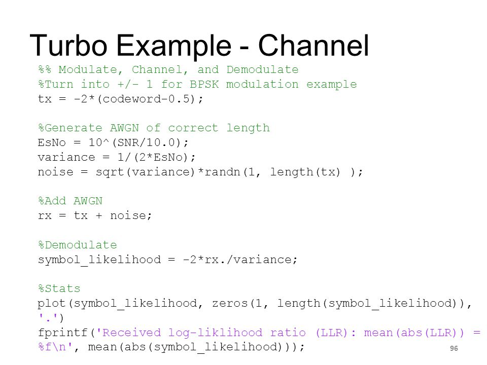 Turbo Example - Channel