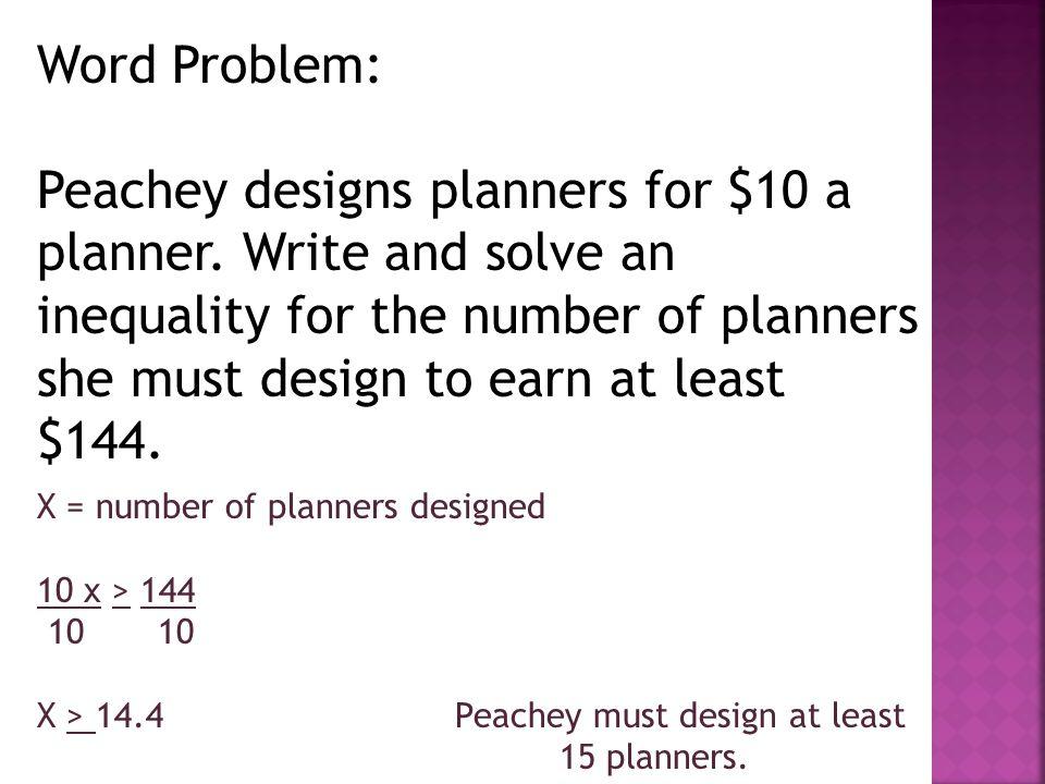 Word Problem: