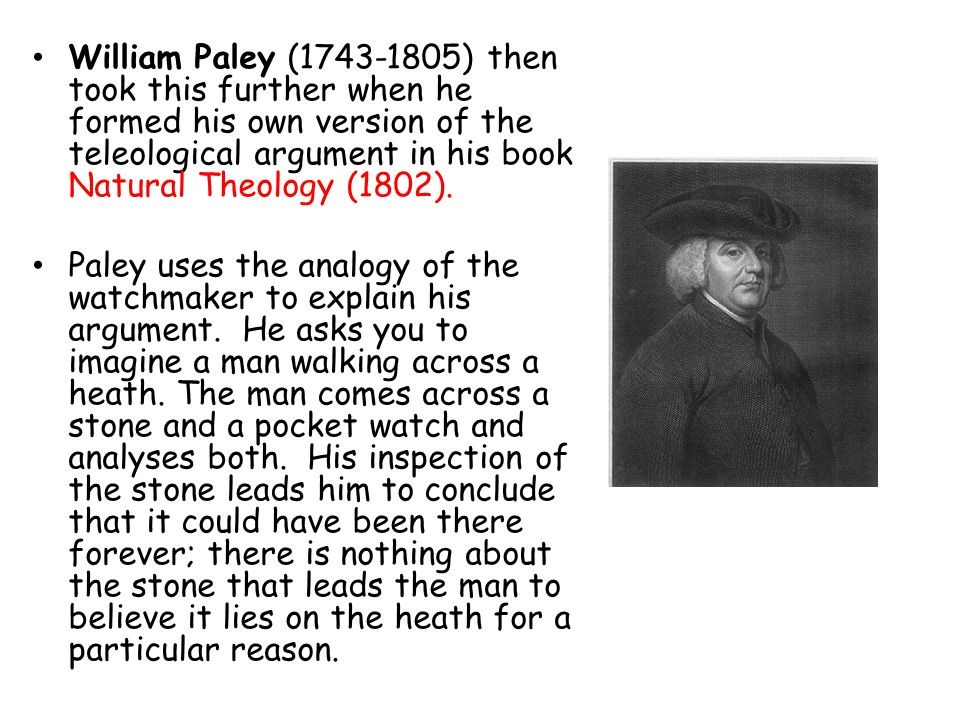 a review of nature theology a novel by william paley But paley's best-known book william paley's natural theology was his era's most famous the old argument of design in nature, as given by paley.