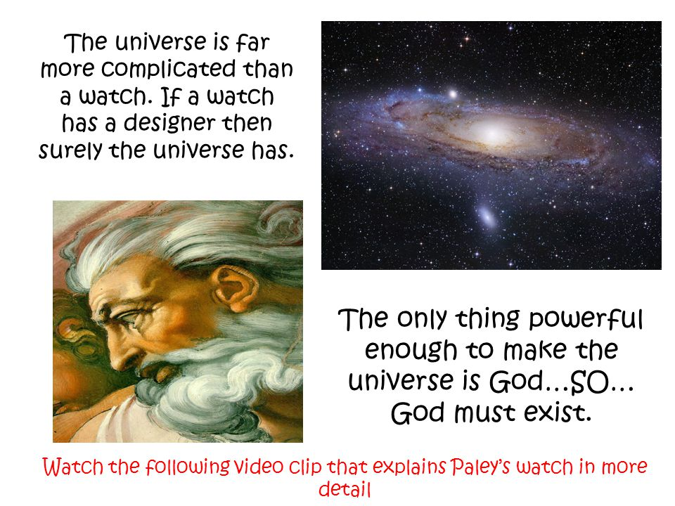 The universe is far more complicated than a watch