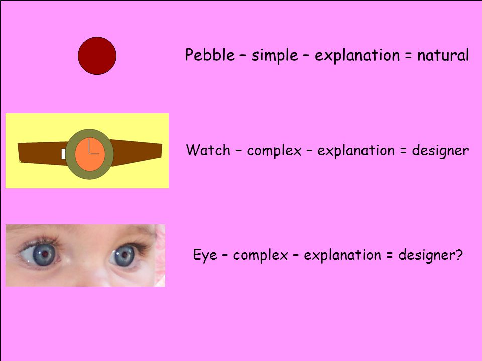 Pebble – simple – explanation = natural