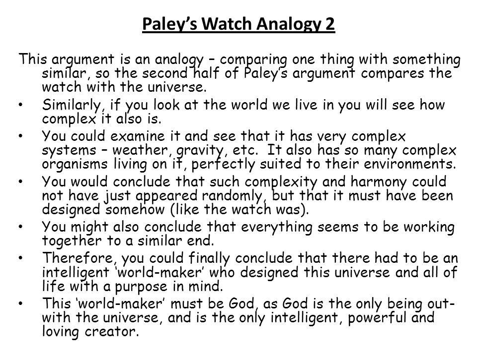 Paley's Watch Analogy 2