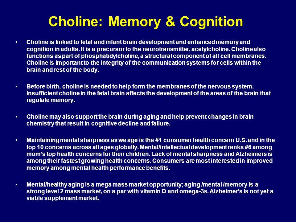 Choline: Memory & Cognition