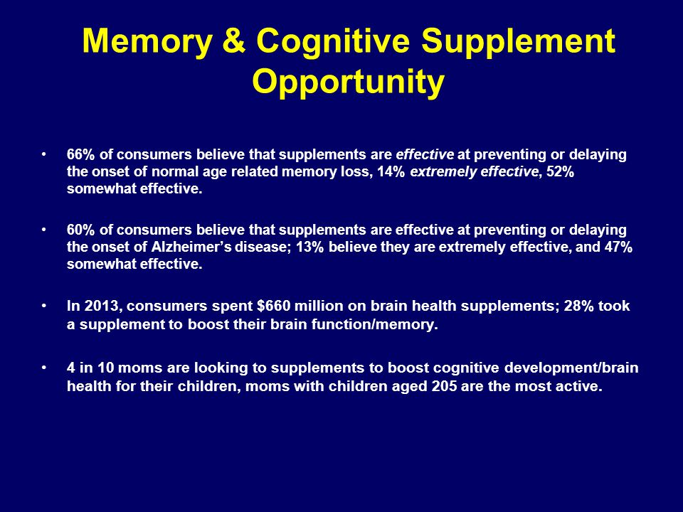 Memory & Cognitive Supplement Opportunity
