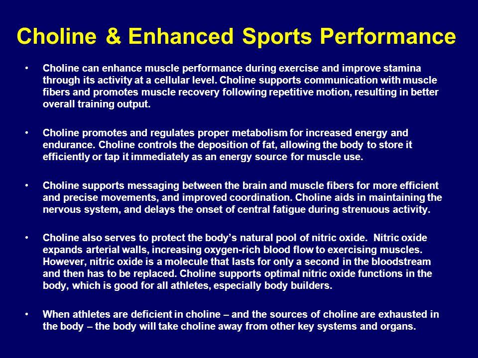 Choline & Enhanced Sports Performance