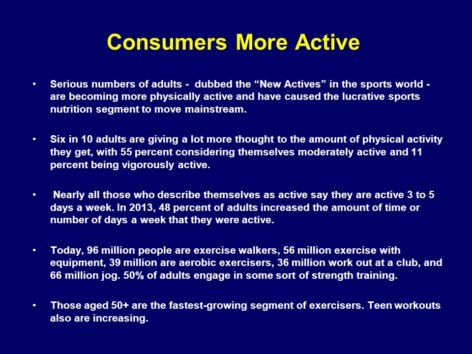 Consumers More Active