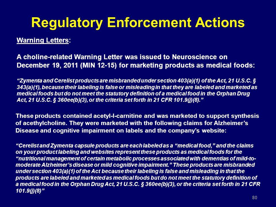 Regulatory Enforcement Actions