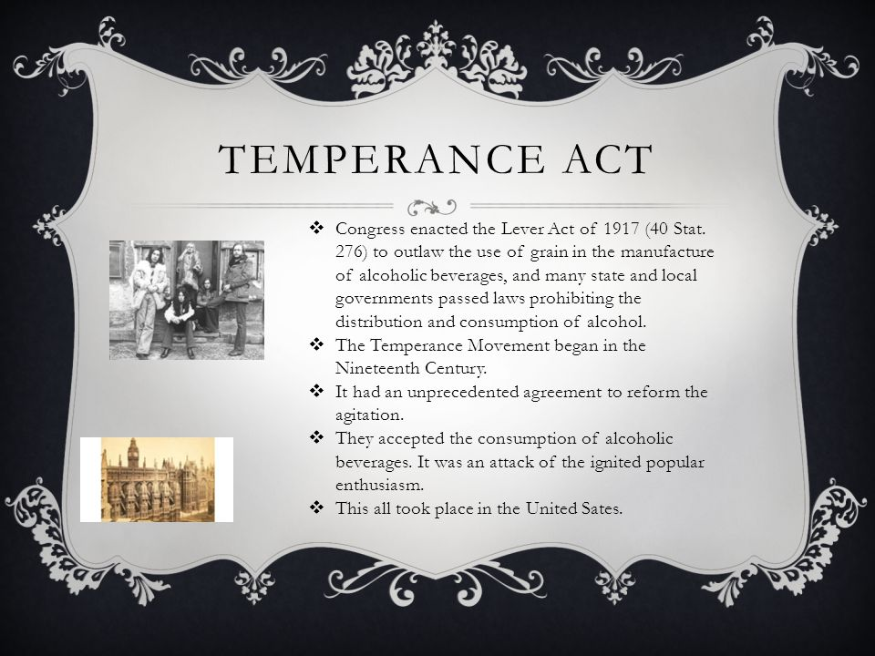 Temperance act