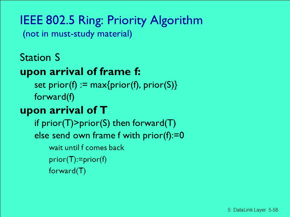 IEEE 802.5 Ring: Priority Algorithm (not in must-study material)
