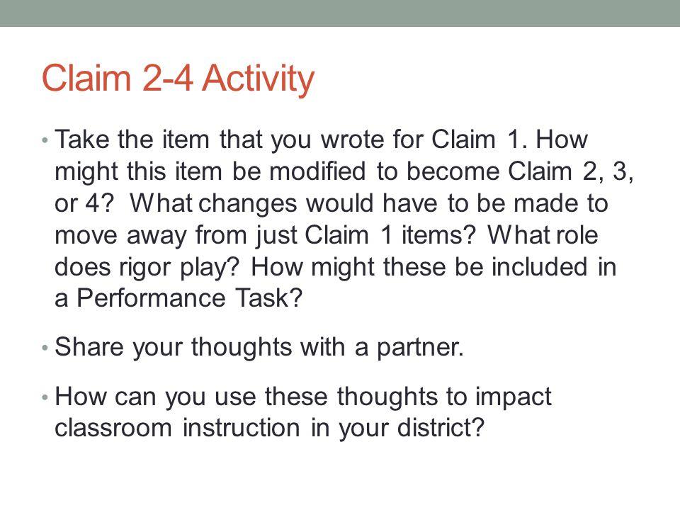 Claim 2-4 Activity