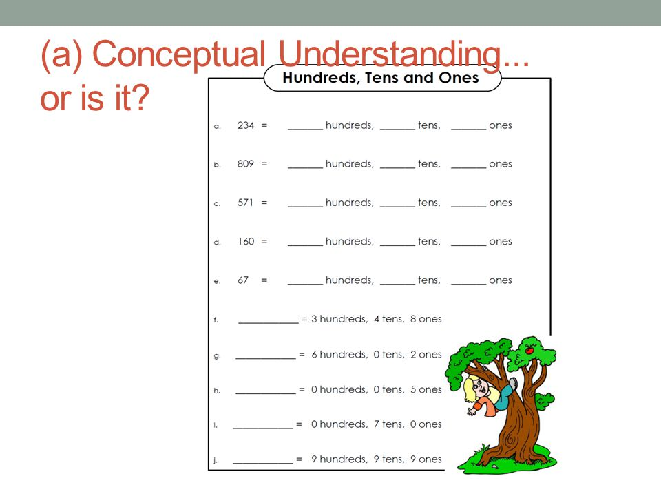 (a) Conceptual Understanding... or is it