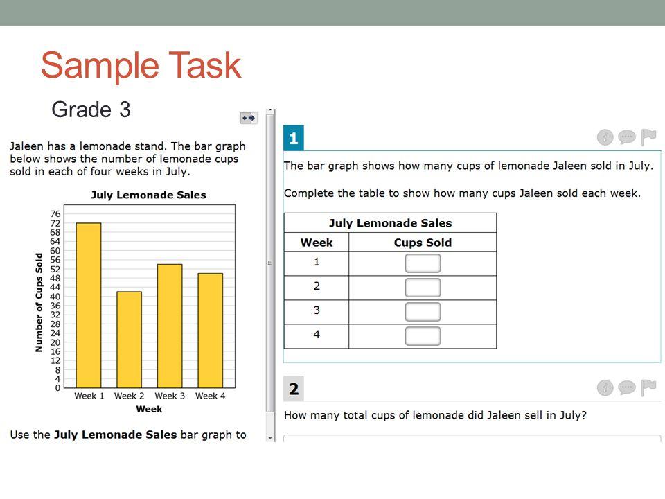Sample Task Grade 3 https://sat2.sbacpt.tds.airast.org/Student/Pages/TestShellModern.aspx
