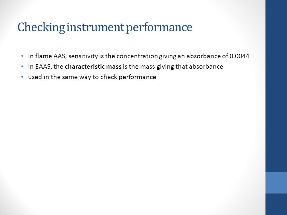 Checking instrument performance