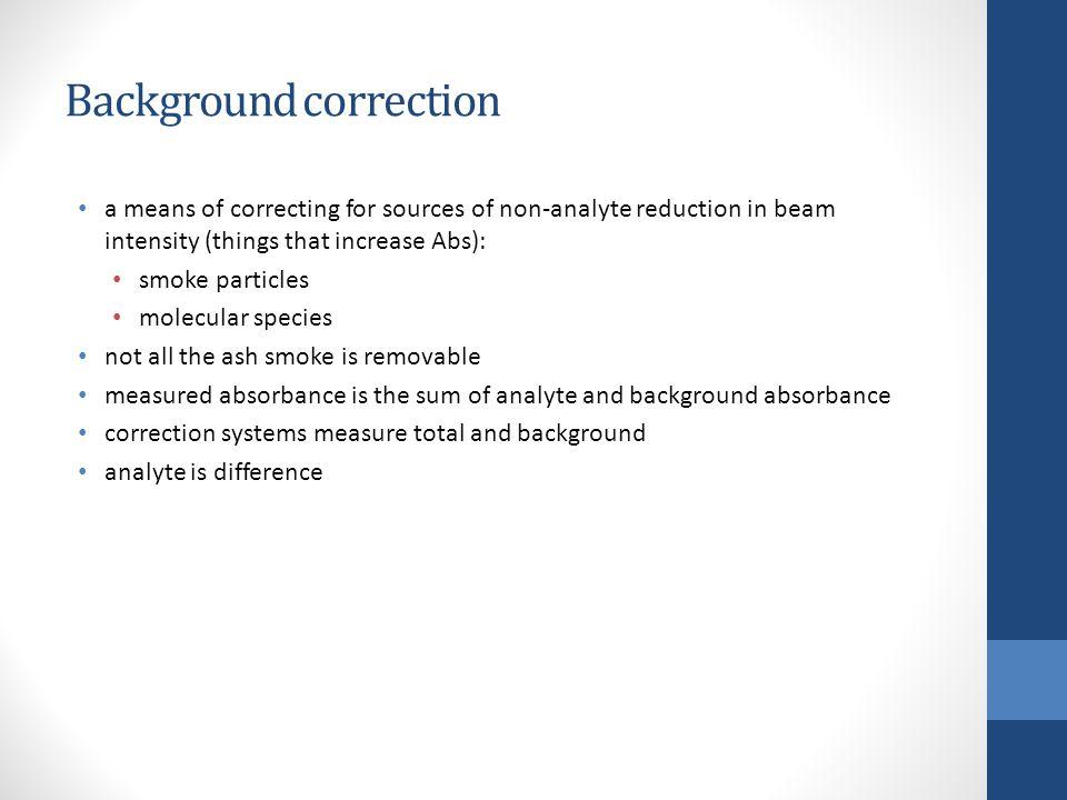 Background correction