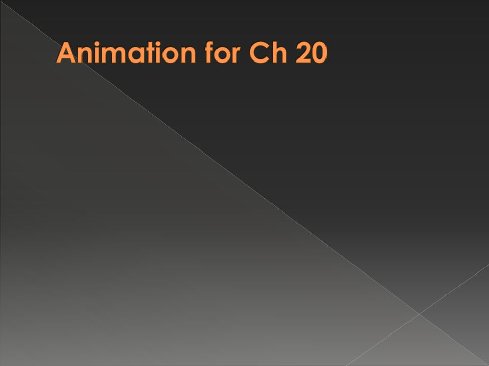 Animation for Ch 20 7.5 min