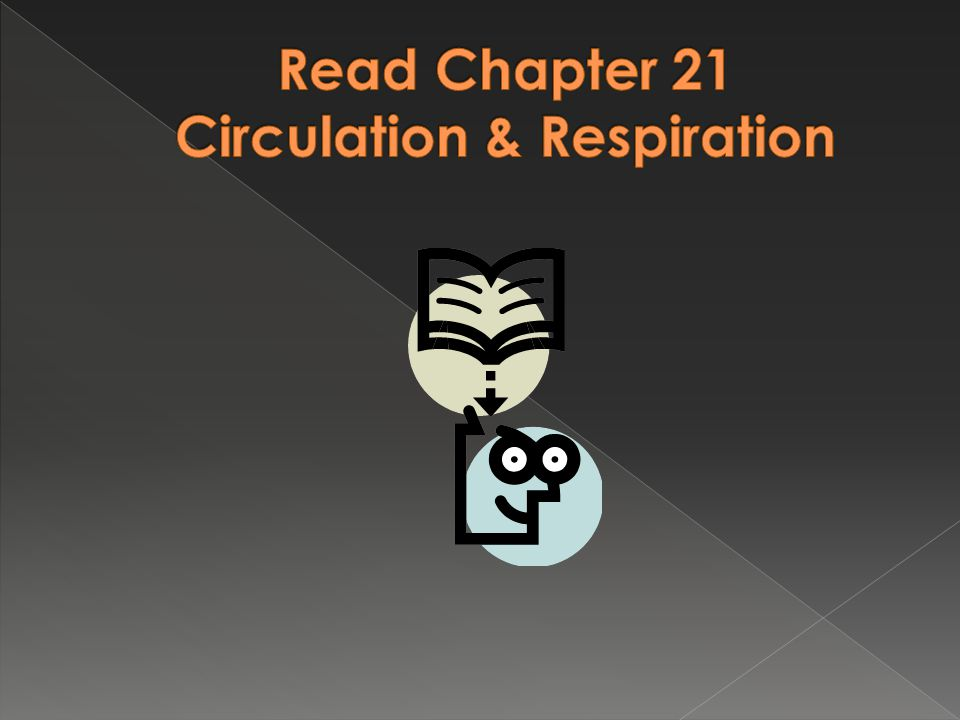 Read Chapter 21 Circulation & Respiration