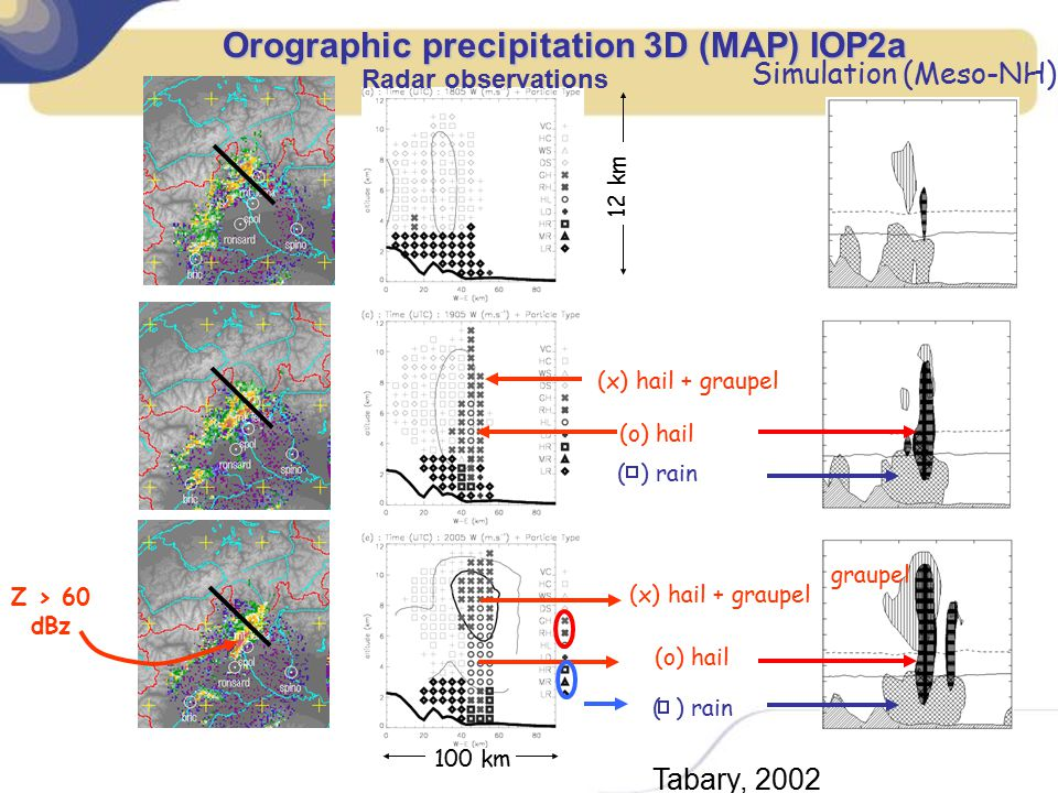 Orographic precipitation 3D (MAP) IOP2a