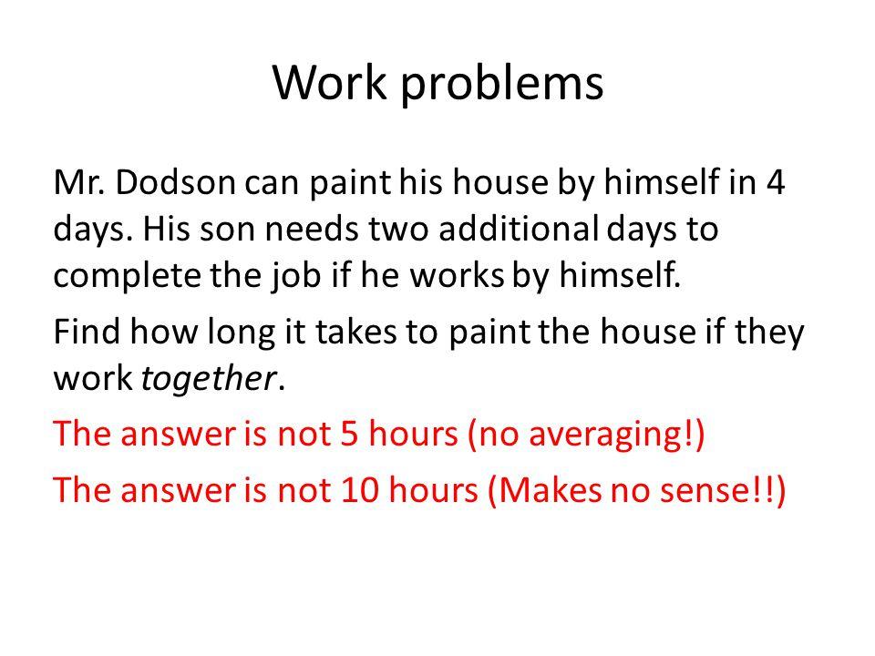 Work problems