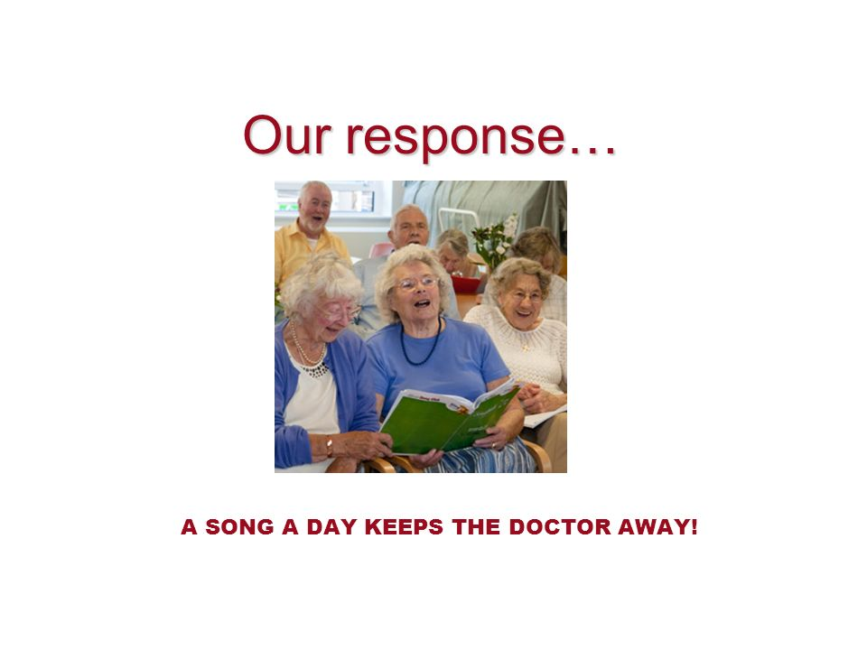 A SONG A DAY KEEPS THE DOCTOR AWAY!