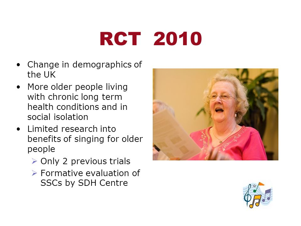 RCT 2010 Change in demographics of the UK