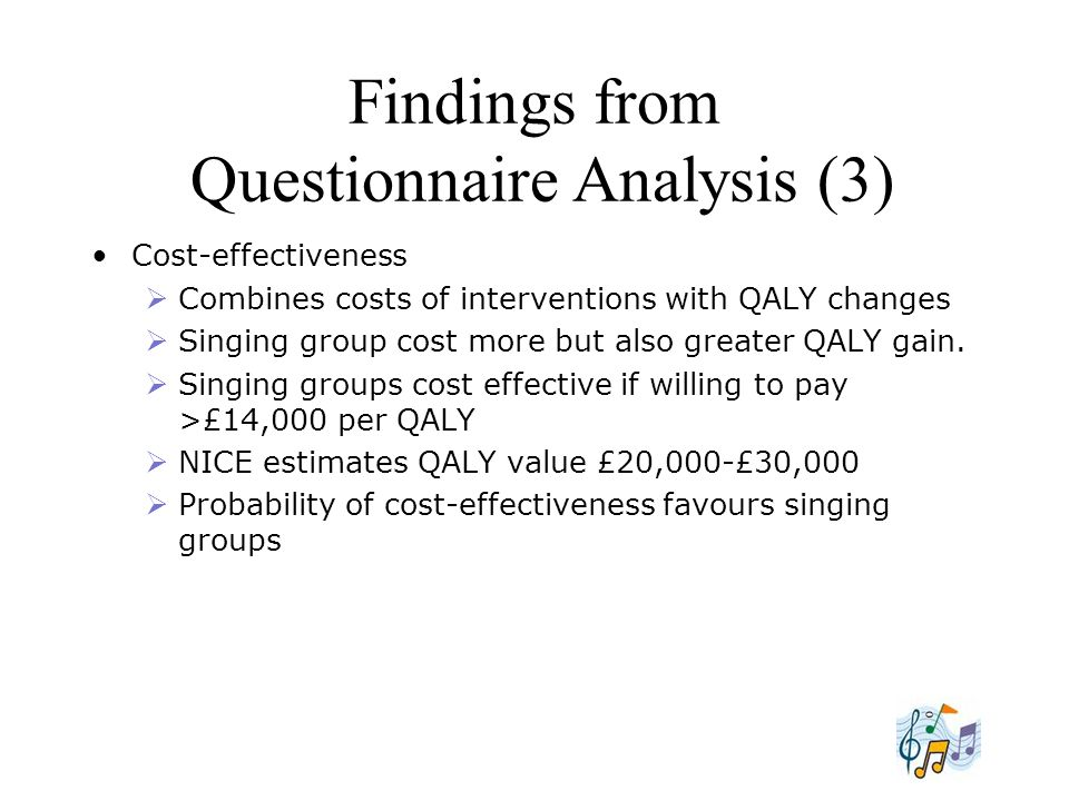 Findings from Questionnaire Analysis (3)