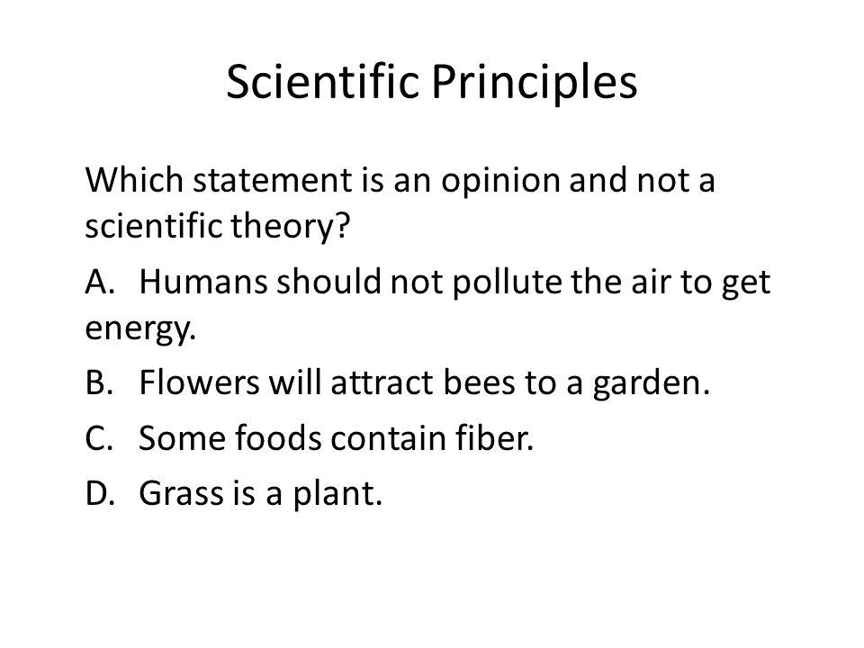 Scientific Principles