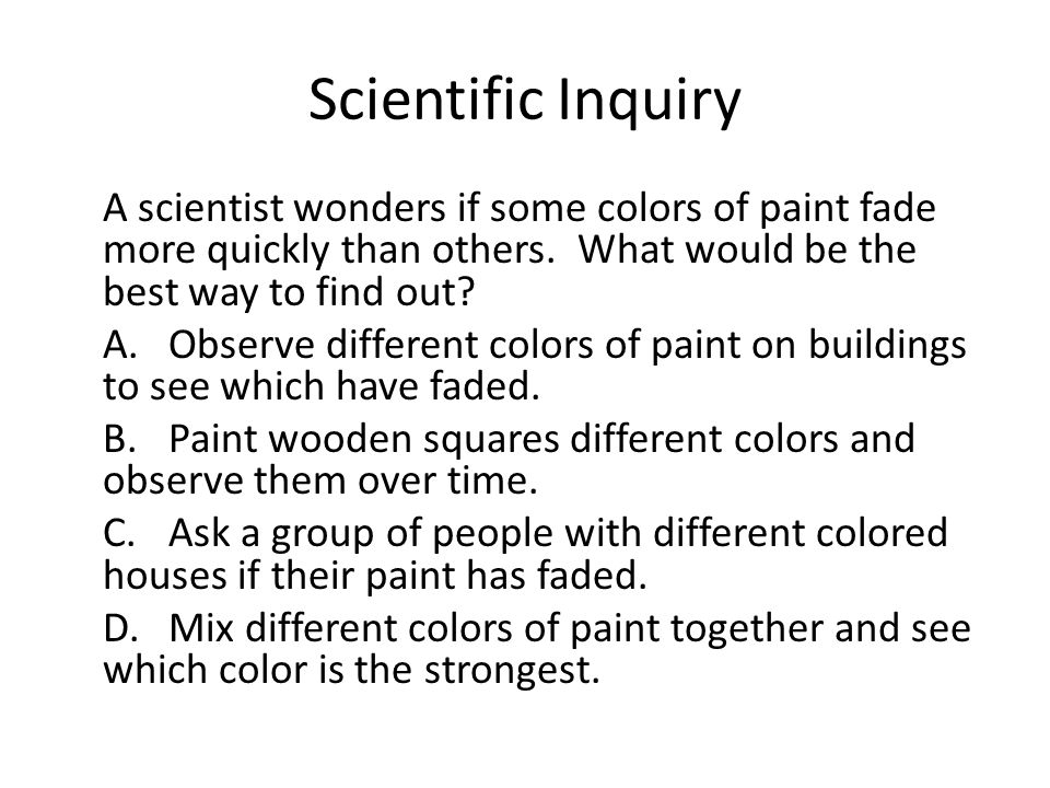 Scientific Inquiry