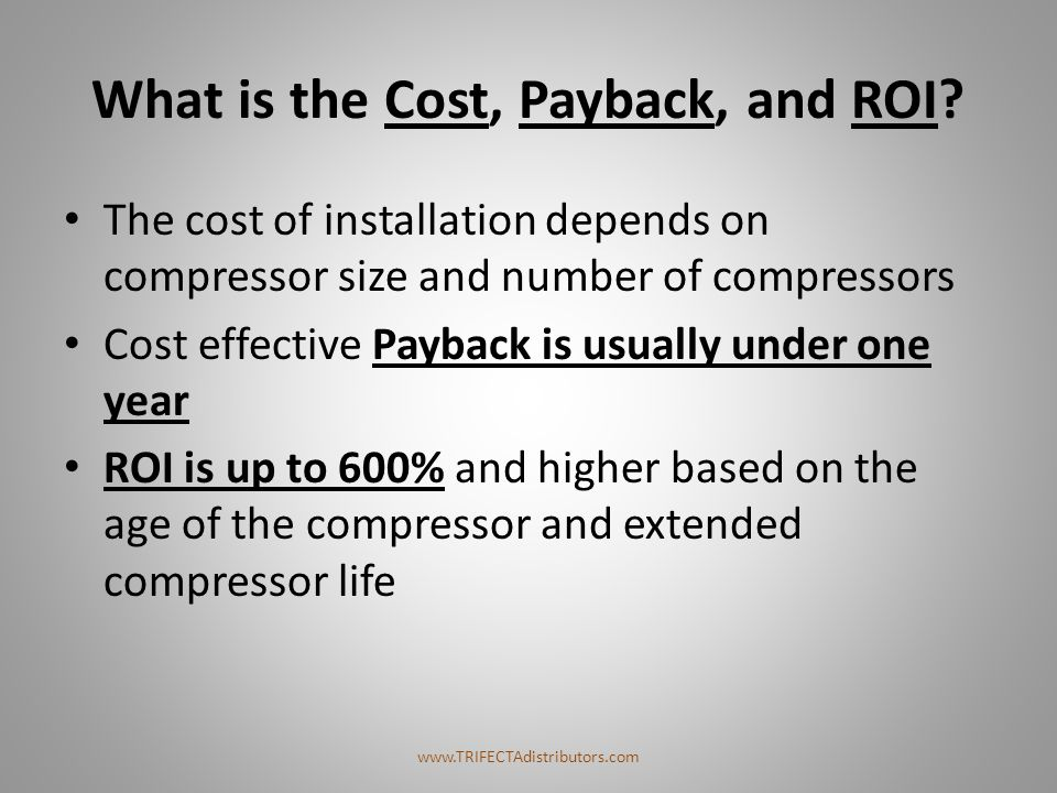 What is the Cost, Payback, and ROI