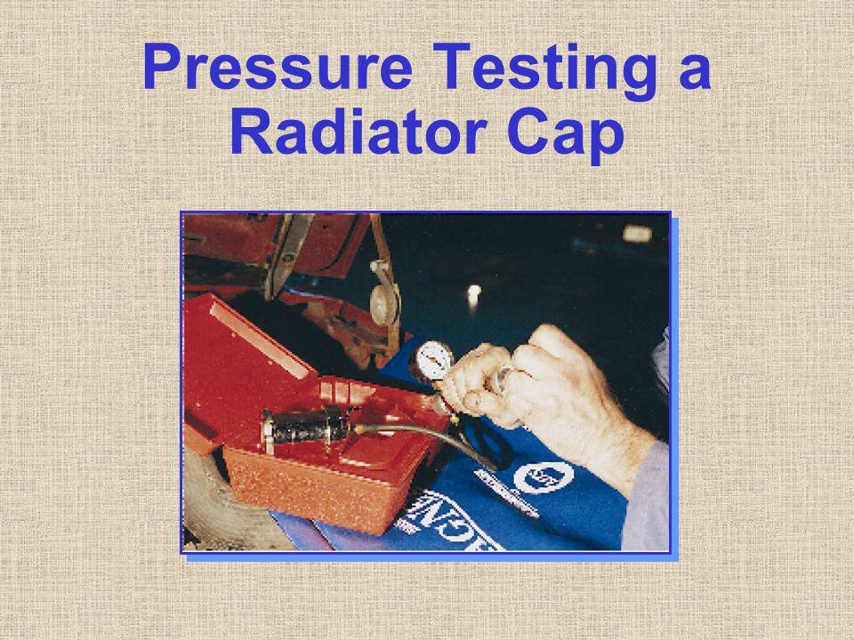 Pressure Testing a Radiator Cap