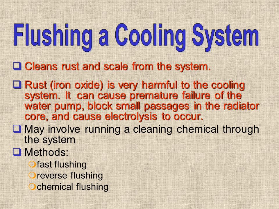 Flushing a Cooling System