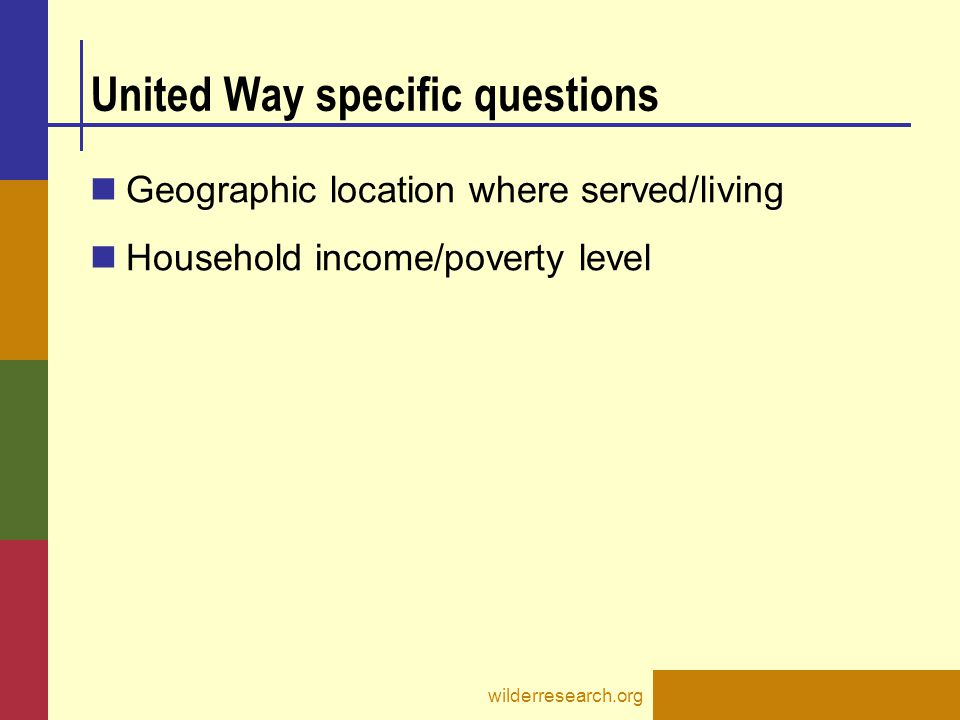 United Way specific questions