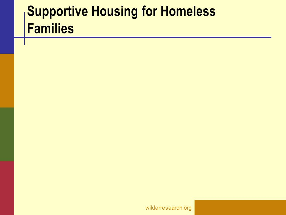 Supportive Housing for Homeless Families