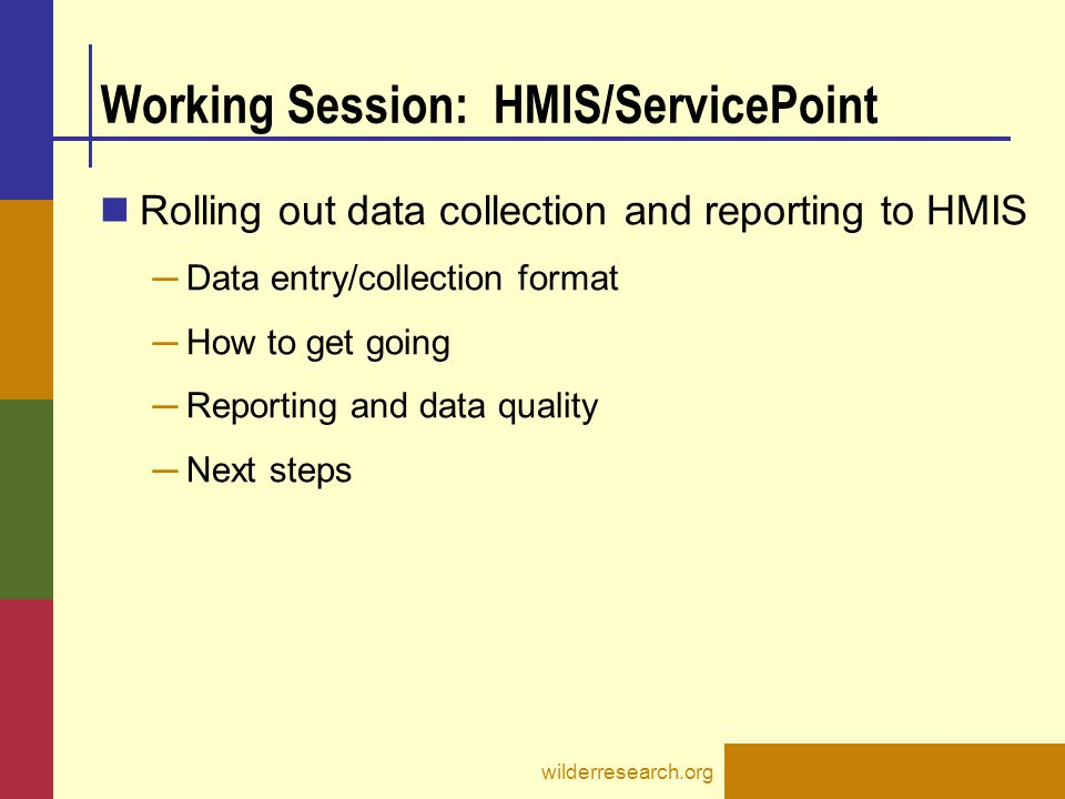Working Session: HMIS/ServicePoint