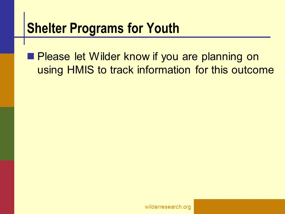 Shelter Programs for Youth