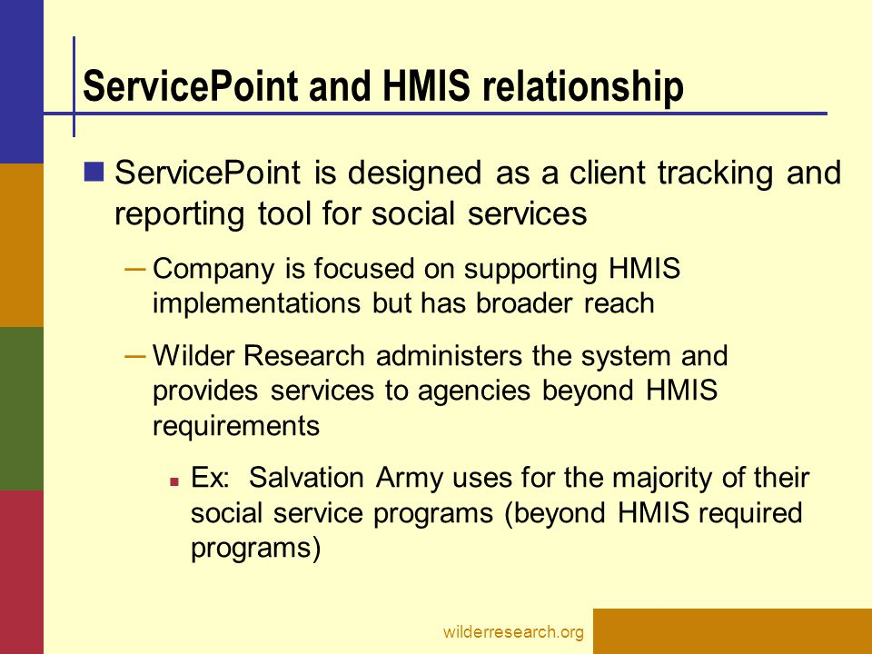 ServicePoint and HMIS relationship