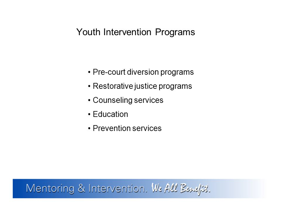 Youth Intervention Programs