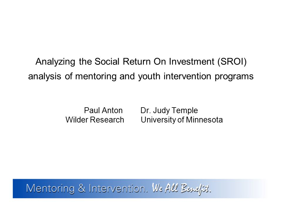 Paul Anton Dr. Judy Temple Wilder Research University of Minnesota
