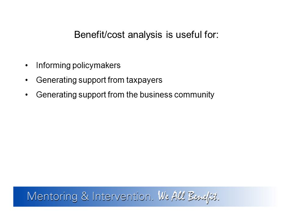 Benefit/cost analysis is useful for: