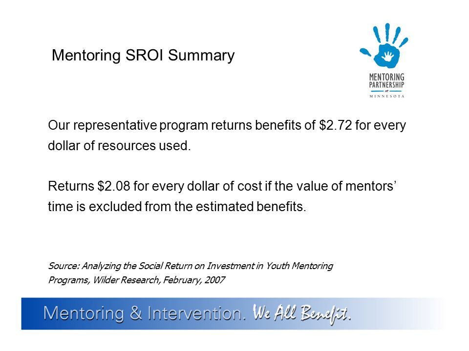 Mentoring SROI Summary