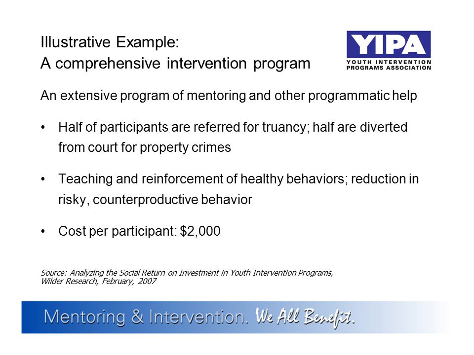 Illustrative Example: A comprehensive intervention program