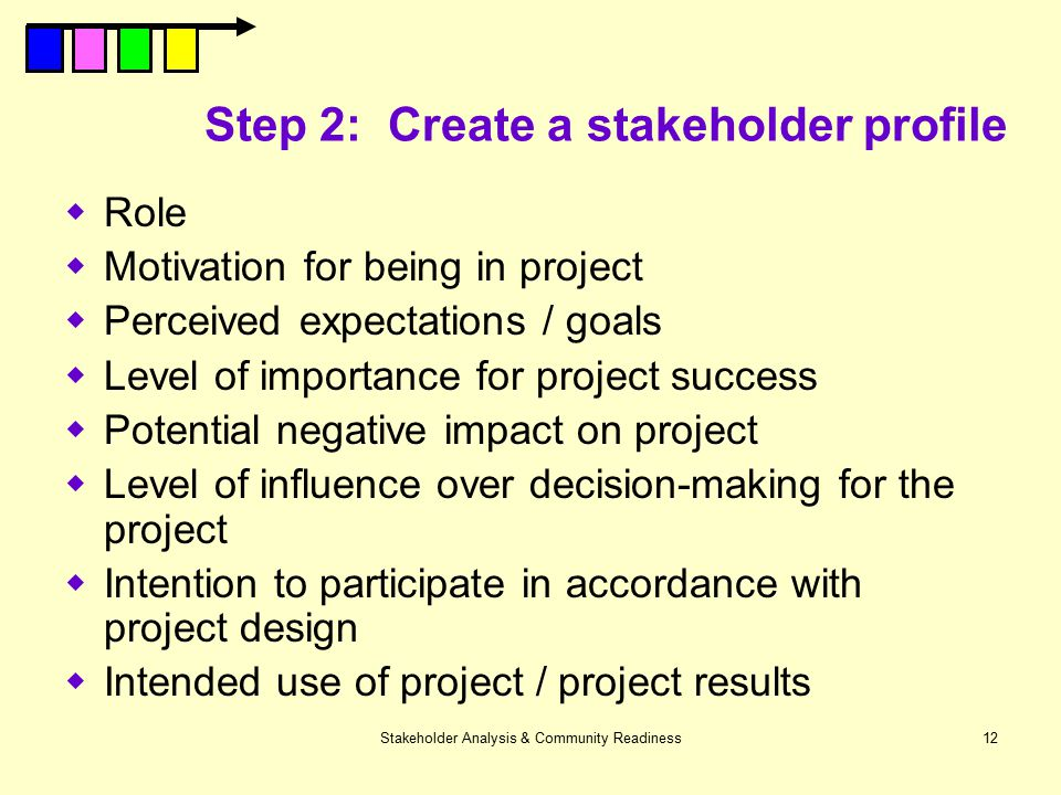 Step 2: Create a stakeholder profile