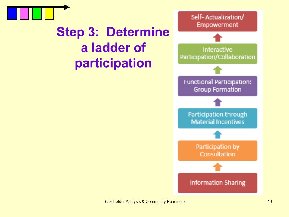 Step 3: Determine a ladder of participation