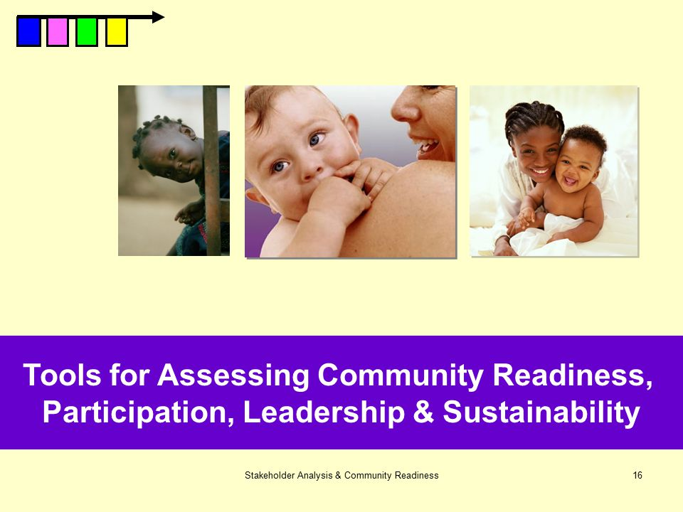 Tools for Assessing Community Readiness,